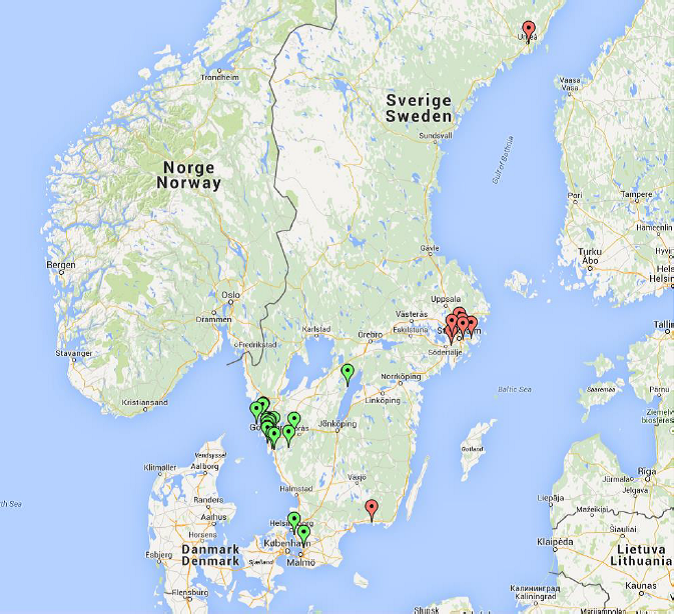 Map Prototype test Sweden 2015
